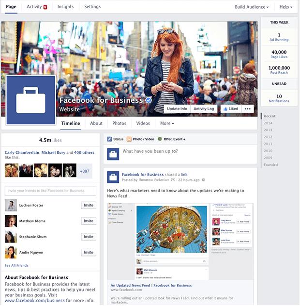 Cambiamenti Facebook 2014 - nuova interfaccia pagina Facebook